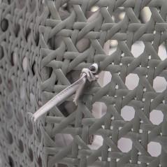 Polyrattan Hängesessel TWIN grau - komplett inkl. Regenabdeckung-11