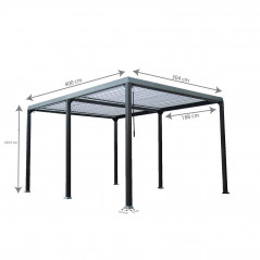 Lamellenpavillon CANNES - 400x303x223cm-17