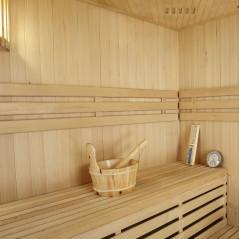 PREMIUM Saunakabine Espoo150 mit Harvia-Saunaofen & Zubehör-17
