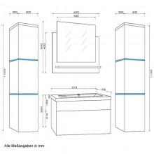 Badmöbel Wangerooge XL - Weiss (HB)-7