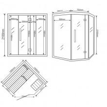 Traditionelle Sauna Skyline XL-11