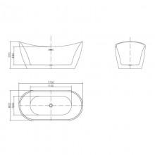 Freistehende Badewanne Ovalo-11