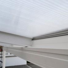Terrassenüberdachung 495 x 303 x 226 / 278 cm (Weiss)-9