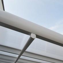 Terrassenüberdachung 495 x 303 x 226 / 278 cm (Weiss)-11