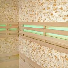 Traditionelle Sauna Skyline XL BIG Kunststeinwand-7