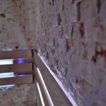 Traditionelle Sauna Skyline XL BIG Kunststeinwand-15