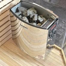 Traditionelle Sauna Skyline XL BIG Kunststeinwand-17