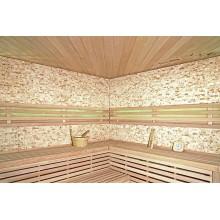 Traditionelle Sauna Skyline XL BIG Kunststeinwand-11