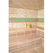 Traditionelle Sauna Skyline XL BIG Kunststeinwand-9