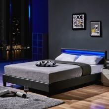 LED Bett Astro 140 x 200 Dunkelgrau