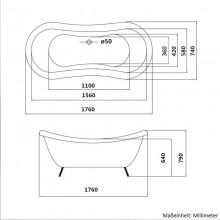 Freistehende Badewanne Fama-17