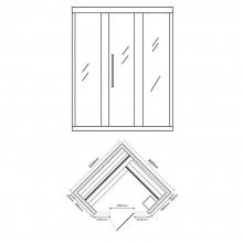 Traditionelle Sauna Skyline XL BIG Kunststeinwand-23