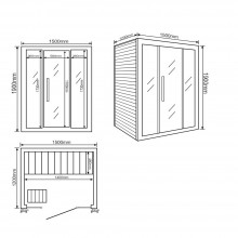 Traditionelle Sauna Skyline L-19