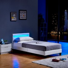 LED Bett Astro 90 x 200 Weiss