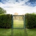 Doppelstabmatten Gartentor grün - 1000 mm