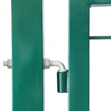 Doppelstabmatten Gartentor grün - 1400 mm-9