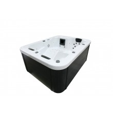 Outdoor Whirlpool White Marble plus Treppe und Thermoabdeckung-3